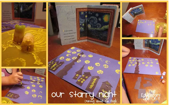 APPLE STAR PRINTS TO CREATE STARRY NIGHT BY VAN GOGH