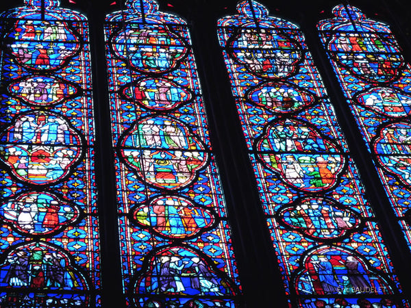 Sainte-Chapelle in Paris Stained Glass