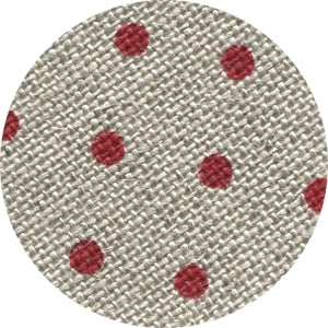 Petit Point Raw with Red Dots Belfast - 32 count