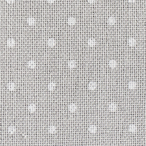 Grey with White Petit Point - 32 count