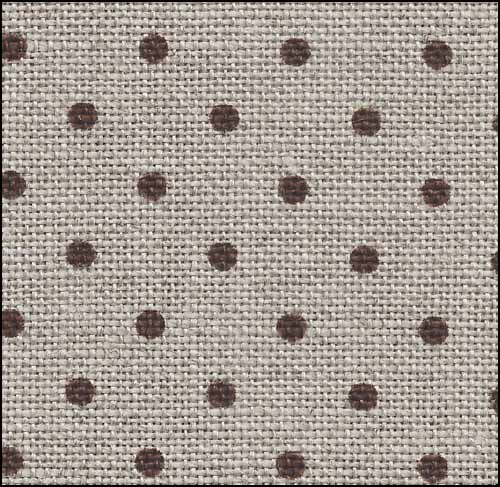 Petit Point Raw with Brown Dots Belfast - 32 count