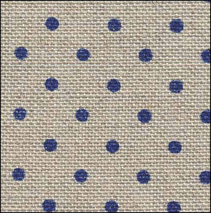 Petit Point Raw with Navy Dots Belfast - 32 count