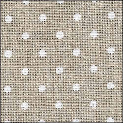 Petit Point Raw with White Edinburgh Linen - 36 count