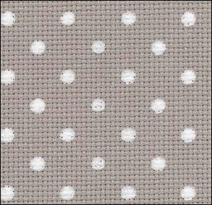 Petit Point Creek with White Dots - 20 count