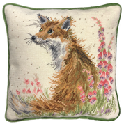 Amongst The Foxgloves Tapestry Pillow