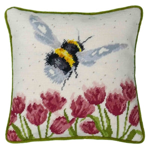 Flight Of The Bumble Bee Tapestry Pillow