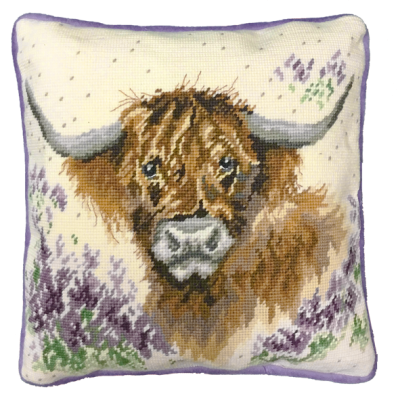 Highland Heathers Tapestry Pillow
