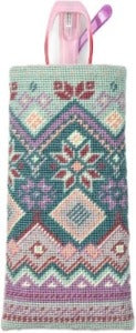 Appletons Wool Kit - Fair Isle Spectacle Case