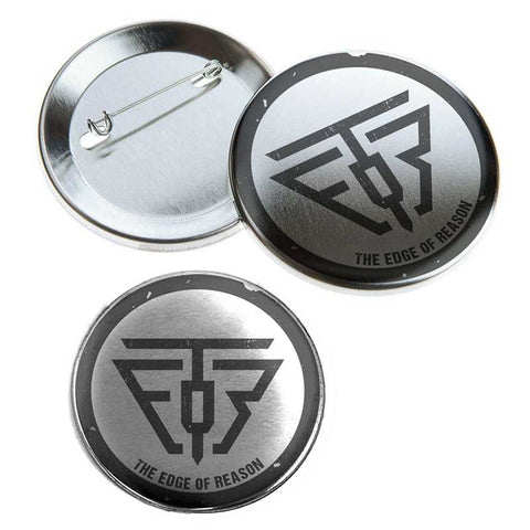 TEOR Logo Pinback Button Set 3 Pcs - Emotional Rock, Post-Hardcore, Emocore Music, Apparel, Accessories, Mental Health