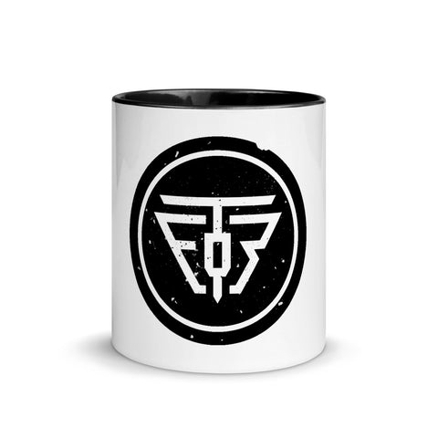 TEOR Logo Mug White | Black Inside - Emotional Rock, Post-Hardcore, Emocore Music, Apparel, Accessories, Mental Health