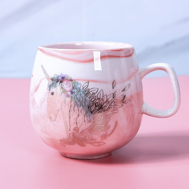 Pink Unicorn Ceramic Mug (350ml)