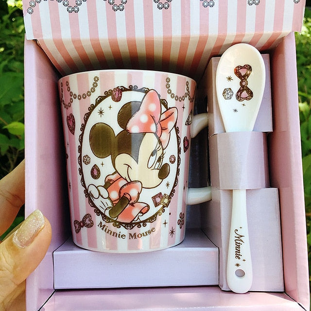 Minnie Disney Mug With Spoon