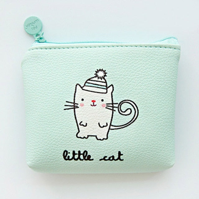 Little Cat Cute Line Zipper Wallet