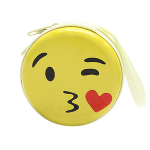 Kissing Emoji Coin Purse
