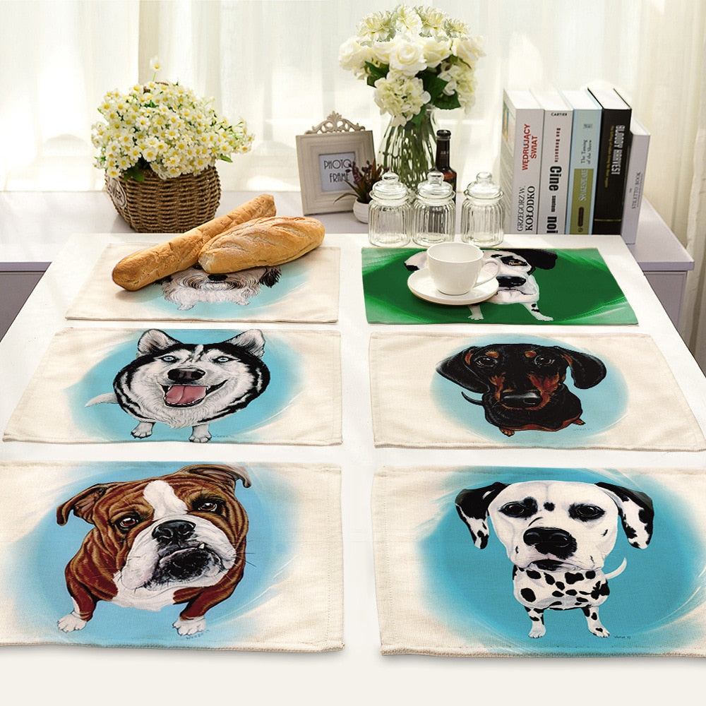 Cute Dog Kitchen Mats