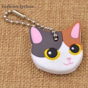Patched Cat Cute Keychain