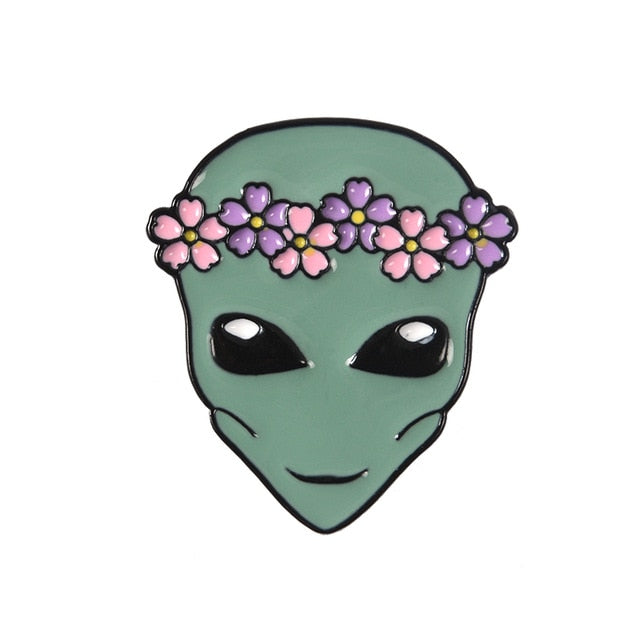 Ghosts & Aliens enamel pins
