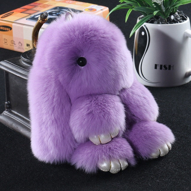 Light purple Bunny Stuffed Fluffy Key Chain (14cm)