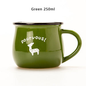 Green European Style Ceramic Cup