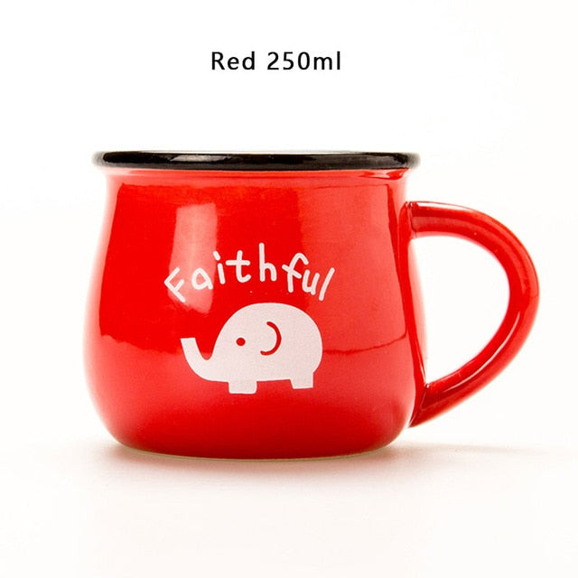 Red European Style Ceramic Cup