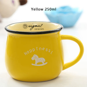 Yellow European Style Ceramic Cup