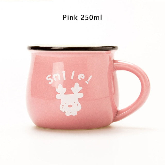 Pink European Style Ceramic Cup