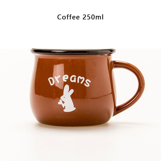 Brown European Style Ceramic Cup