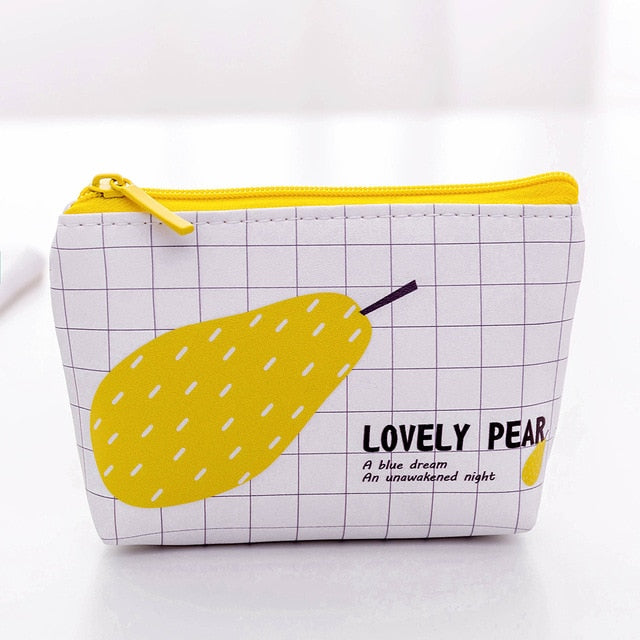 Lovely Pear Cartoon Purse