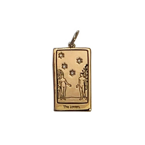 The Lovers Tarot Charm with Chain