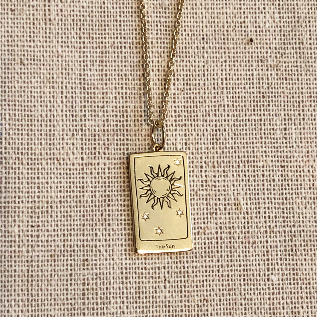 The Sun Tarot Charm with chain