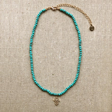 Load image into Gallery viewer, Turquoise Hamsa Necklace