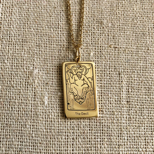 The Devil Tarot Charm on a chain