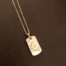 Charger l'image dans la galerie, Golden Moon Dog Tag Necklace