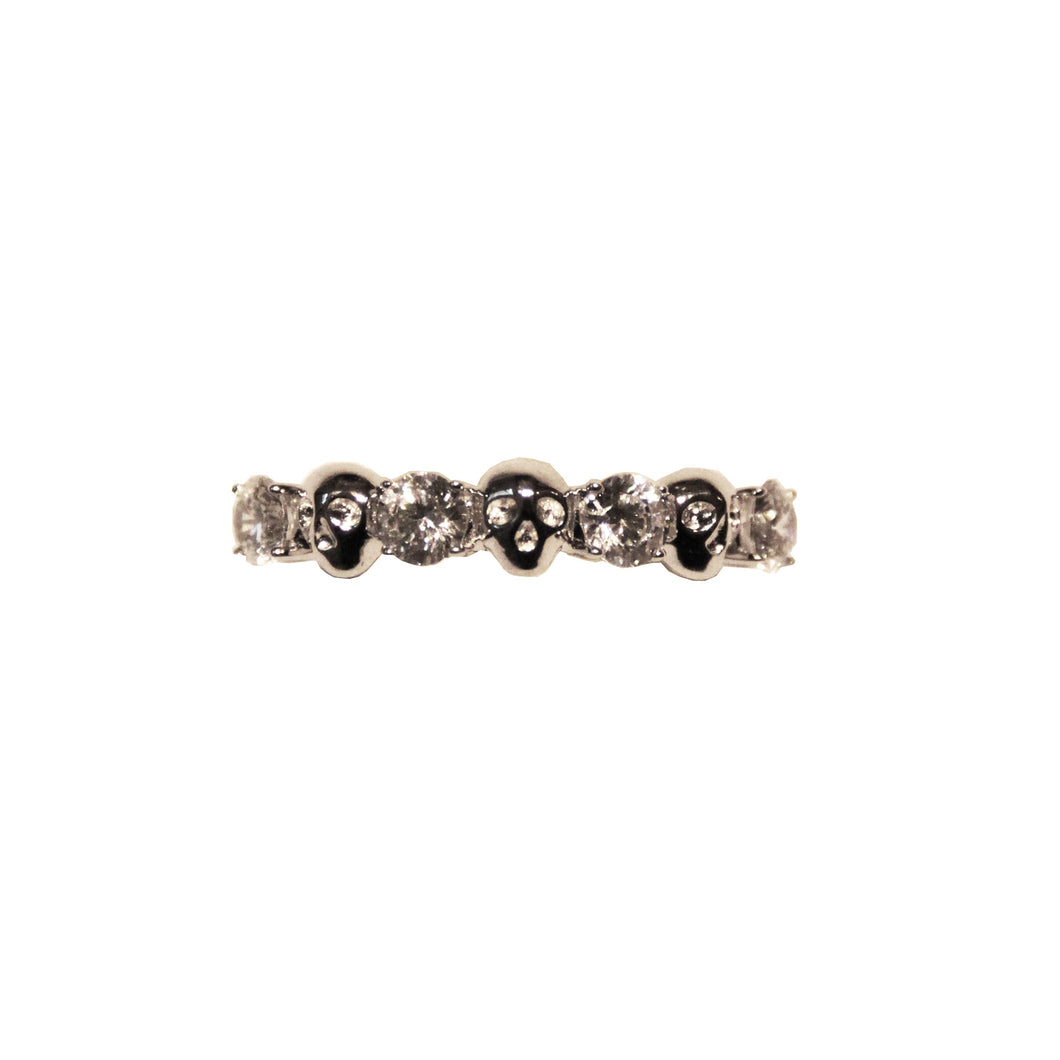 Memento Mori Stacking Ring - Silver