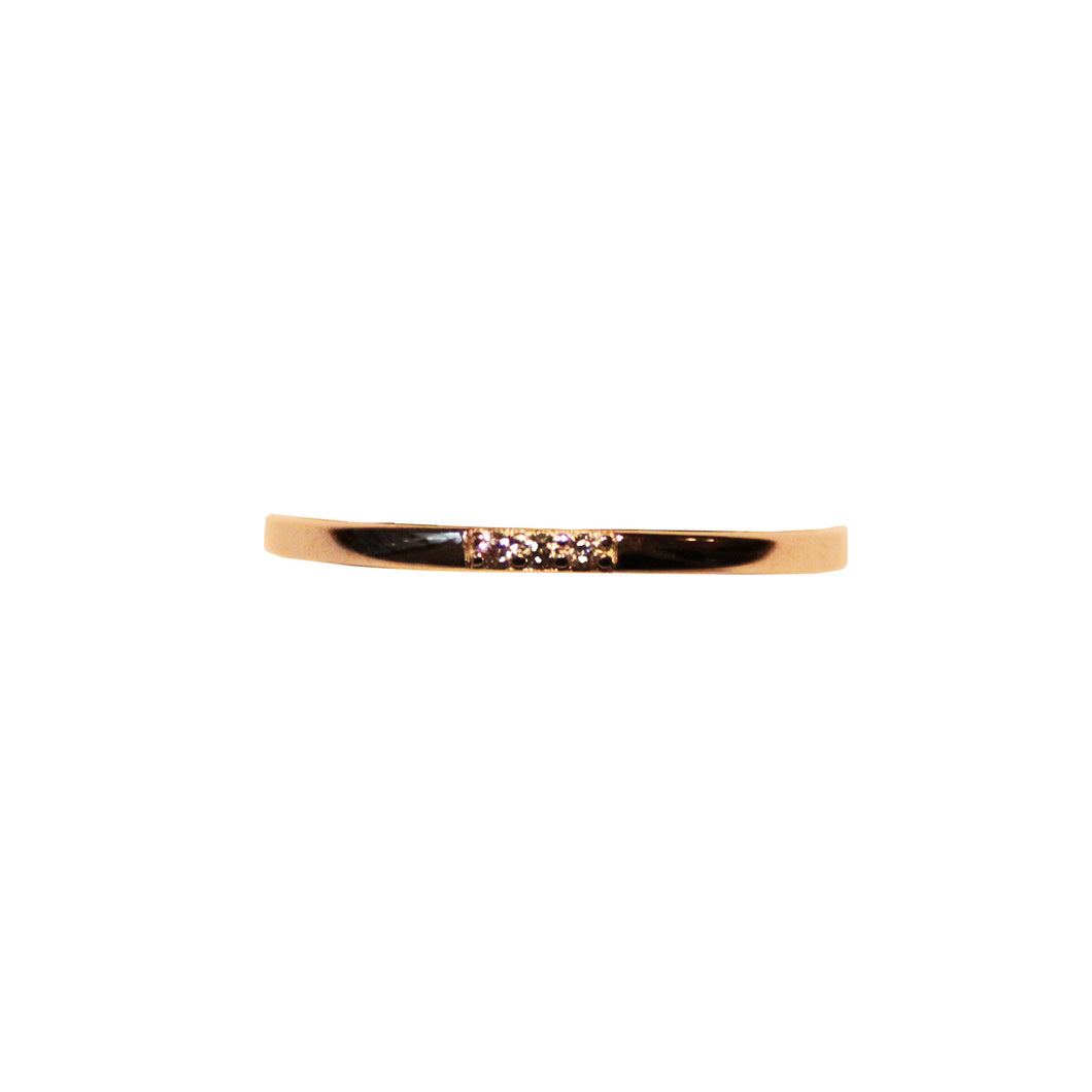 Slim Trinity Ring - Gold