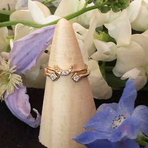 Twin Flame Stacking Ring -  14K Gold