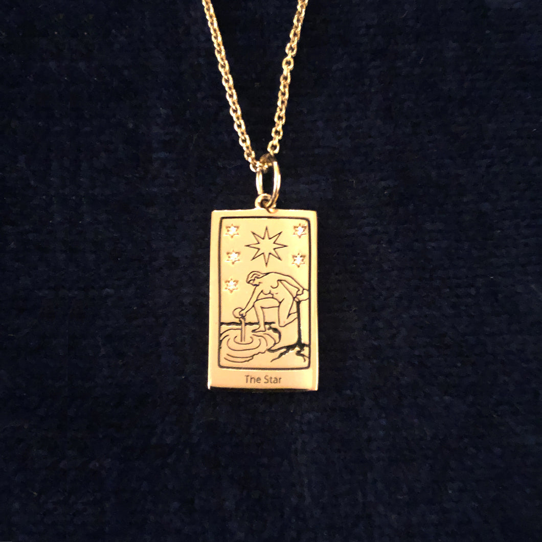 The Star Tarot charm with chain