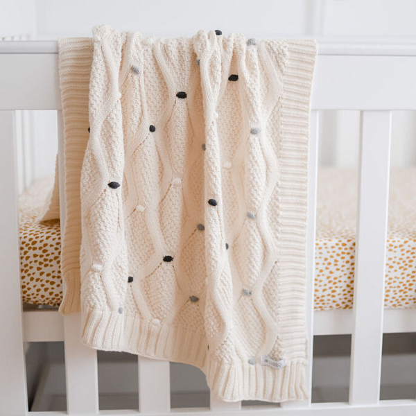 Lucy Baby Blanket – Grey