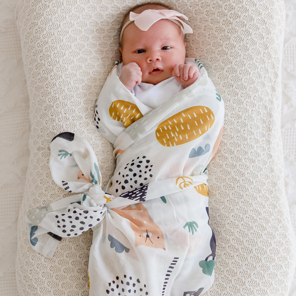 Asher Animals Muslin Swaddle