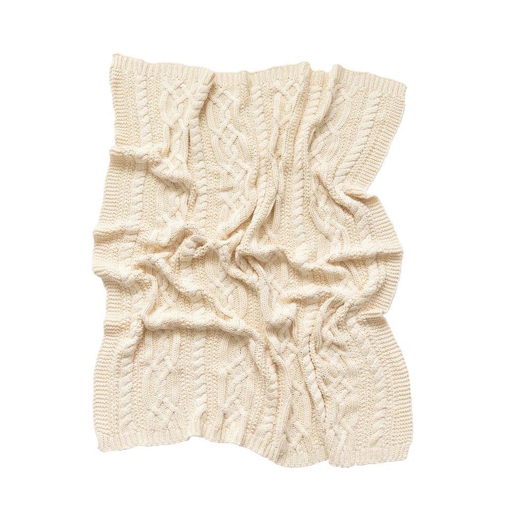 Reilly Cable Knit Blanket - Natural