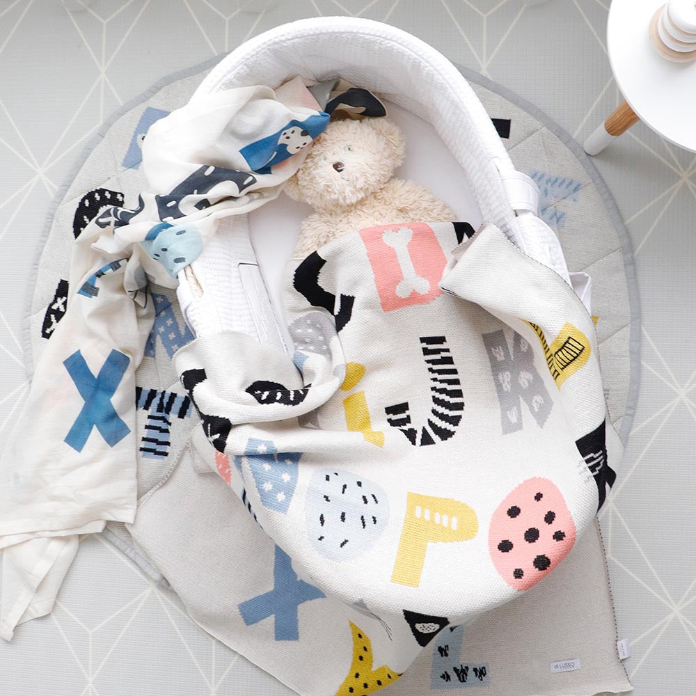 ABCD Muslin Swaddle