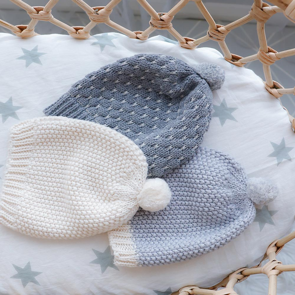 Mini Moss Baby Hat – Natural