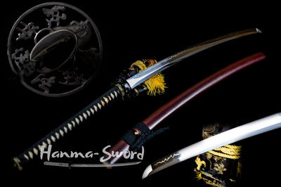 japanese nodachi long sword clay tempered full tang blade razor sahrp edge #HM0054 - hanma-sword