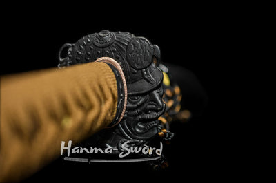 clay tempered folded steel japanese samurai katana red color balde sword #HM0011 - hanma-sword