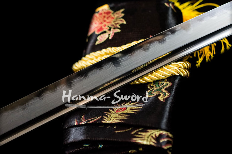 Hazuya Polished Clay Tempered Folded Blade Japanese samurai Katana sword#HM0057 - hanma-sword
