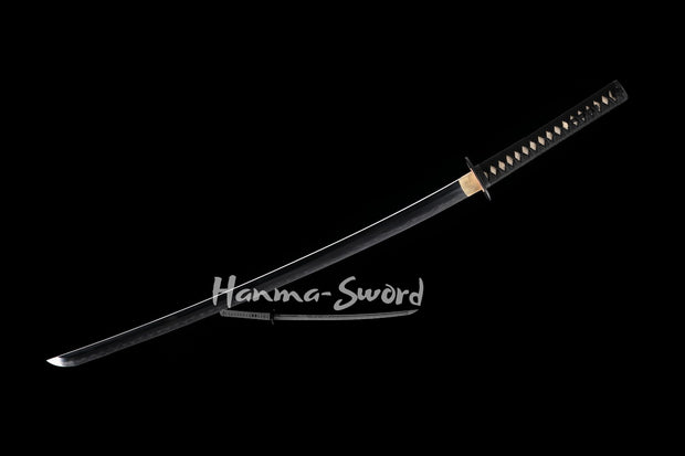 hand forge forged folded steel blade japanese samurai katana nakago fittings sword#HM0060 - hanma-sword