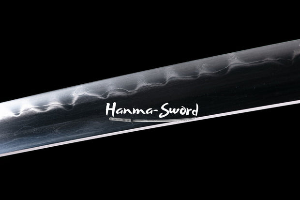 Clay Tempered 1095 Folded Steel Blade Japanese Katana Nakago Fittings Sword #HM0064 - hanma-sword