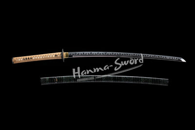 Excellent Handmade Japanese Shinken Katana Clay Tempered Orogshine Steel Blade Sword#HM0057 - hanma-sword