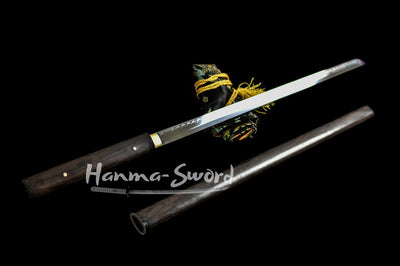 Martial Arts Supply Handmade Japanese Shirasaya Samurai Katana ZATOICHI Sharp Sword #HM0046 - hanma-sword