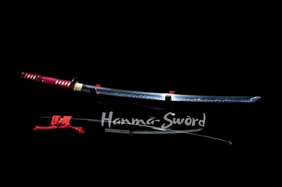 clay tempered full tang blade japanese samurai katana higo fittings sword #HM0012 - hanma-sword